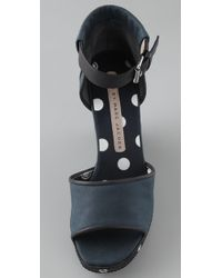 Marc By Marc Jacobs - Blue Wedge Sandal - Lyst