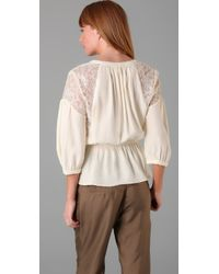 Parker - Natural Elastic Waist Top - Lyst