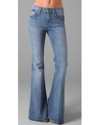 7 For All Mankind | Blue Bell Bottom Jeans | Lyst