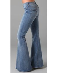 7 For All Mankind - Blue Bell Bottom Jeans - Lyst
