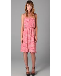 Alice + Olivia - Pink Print Pilar Tank Dress - Lyst