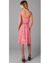 Alice + Olivia | Pink Print Pilar Tank Dress | Lyst