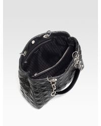 Dior - Black Soft Cannage Lambskin Shopping Tote - Lyst