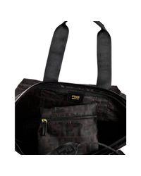 Fendi | Black Zucca Canvas Shopping Tote | Lyst