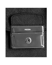Prada - Black Saffiano Cartella Professor Briefcase for Men - Lyst