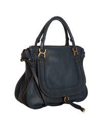 Chloé | Blue Braided Double Handle Marcie Bag | Lyst