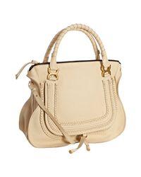 Chloé | Natural Calfskin Marcie Shoulder Bag | Lyst
