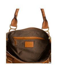 Chloé | Brown Light Tan Calfskin Marcie Top Handle Bag | Lyst