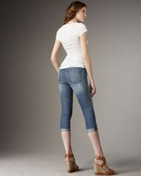 Current/Elliott - Blue Bayberry The Matchstick Jeans By Current Elliot - Lyst