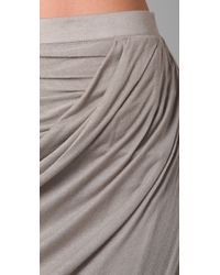 Helmut Lang - Natural Asymmetrical Long Skirt - Lyst