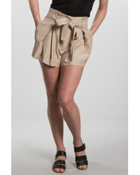 Lover | Natural Arabesque Bow Short in Beige | Lyst