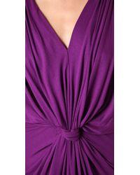 T-bags - Purple Draped Long Dress - Lyst