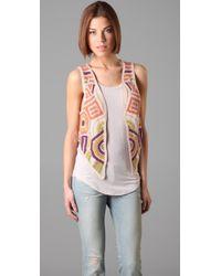 Twenty8Twelve | Brown Amelie Crochet Vest | Lyst