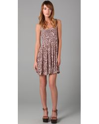 Free People | Pink Leopard Print Dress | Lyst
