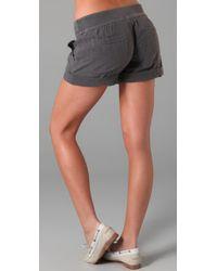 Splendid - Gray Double Gauze Shorts - Lyst