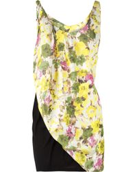 Acne Studios | Black Free Flower Printed Dress | Lyst