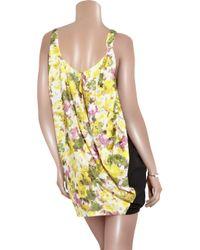 Acne Studios - Black Free Flower Printed Dress - Lyst