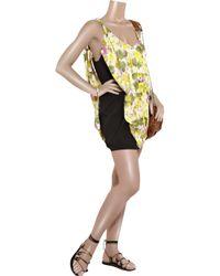 Acne | Black Free Flower Printed Dress | Lyst