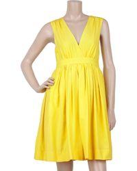 Adam Lippes - Yellow Silk and Cotton-blend Full Dress - Lyst