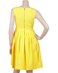 Adam Lippes | Yellow Silk and Cotton-blend Full Dress | Lyst