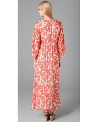Alice + Olivia - Orange Hadley Long Kimono Dress - Lyst