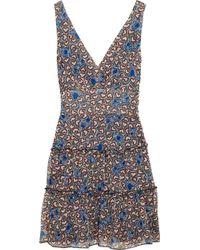 Anna Sui   Blue Heart-print Silk Dress   Lyst