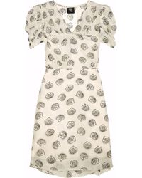 Anna Sui | White Printed Cotton and Silk-blend Dress | Lyst