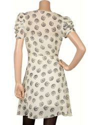 Anna Sui - White Printed Cotton and Silk-blend Dress - Lyst