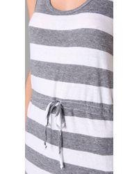 C&C California - Blue Triblend Bold Stripe Maxi Tank Dress - Lyst