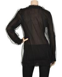 Dolce & Gabbana - Black Mesh Overlay Knitted Sweater - Lyst