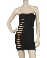 Hervé Léger - Black Monique Cutout Bandage Dress - Lyst