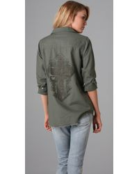 Insight | Green Trash M.a.s.h Boyfriend Shirt | Lyst