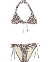 Melissa Odabash | Multicolor Hazel Zebra-print Triangle Bikini | Lyst