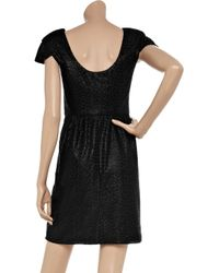 Tibi - Black Fitted Jacquard Dress - Lyst