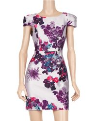 Tibi | Purple Madeline Floral Silk-blend Dress | Lyst