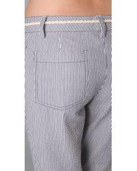 Tory Burch | Blue Dulcie Seersucker Pants | Lyst