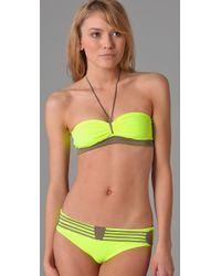 VPL - Yellow Compression Bikini Top - Lyst