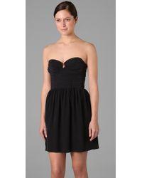 Zimmermann - Black Ruched Bustier Dress - Lyst