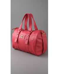 Marc By Marc Jacobs Red Totally Turnlock Shifty Satchel