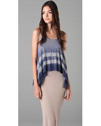 Splendid | Blue Navy Eclipse Heather Faded Tie Dye Sleeveless Top | Lyst