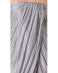 Thakoon - Gray Addition Strapless Draped Dress - Lyst