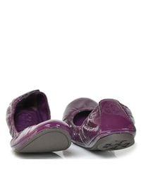 Tory Burch - Eddie - Purple Patent Leather Ballet Flat - Lyst