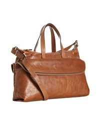 Fendi | Brown Natural Leather Zip It Convertible Satchel | Lyst
