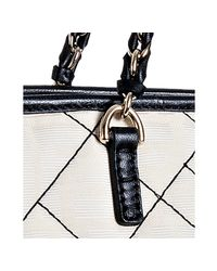 Fendi | White Ivory and Red Zucca Canvas Quilted Roll Chain Link Tote | Lyst