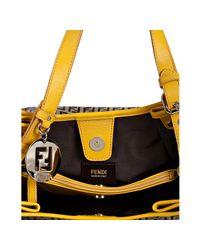 Fendi - Brown Yellow Zucchino Canvas Forever Shopping Hobo - Lyst