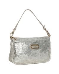 Jimmy Choo | Metallic Champagne Glitter Fabric Trudy Shoulder Bag | Lyst