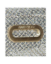 Jimmy Choo - Metallic Champagne Glitter Fabric Trudy Shoulder Bag - Lyst