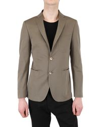 Pino Lerario - Gray Light Gabardine Jacket for Men - Lyst