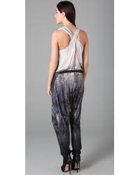 L.A.M.B. - White Crisscross Back Jumpsuit - Lyst
