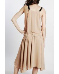 See By Chloé | Natural Bow Pleat Dress | Lyst